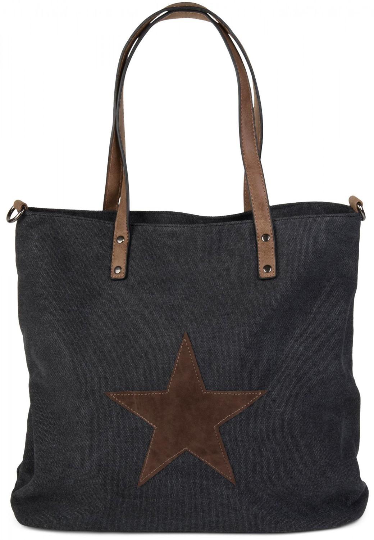 stylebreaker canvas shopper handtasche mit aufgen htem. Black Bedroom Furniture Sets. Home Design Ideas