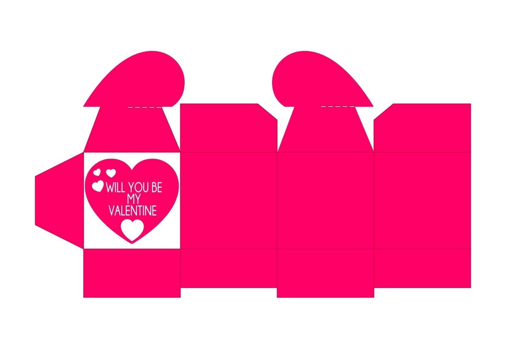 Valentinstag Herzschachtel Pink