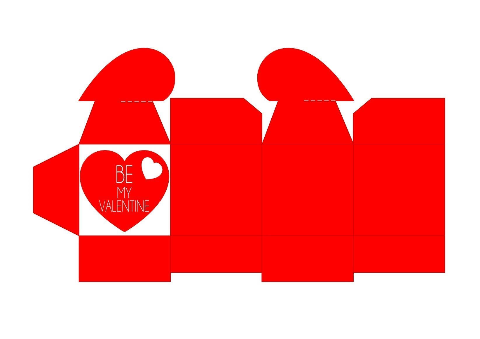 Valentinstag Herzschachtel Rot
