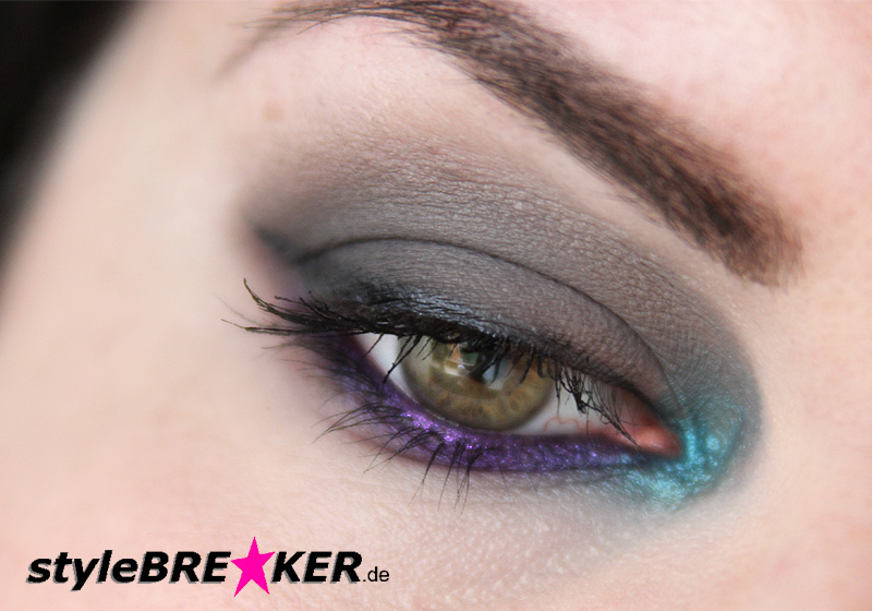 Beauty Inspiration - Make-Up in Purple, Petrol, Grey 1b