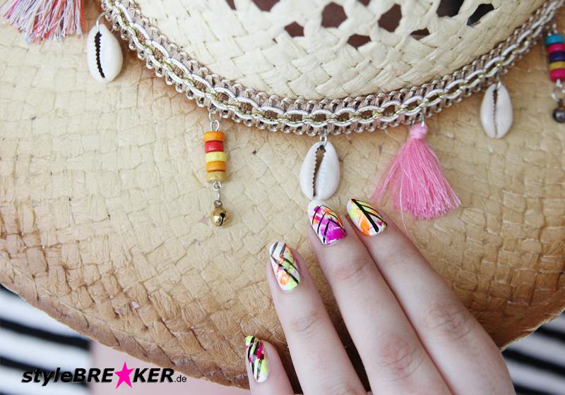 Neon Splatter Nails Tutorial Nailart Nageldesign 1b
